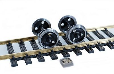 2 Wheel Sets with Stainless Steel Tyres 42 mm Gauge 2 (64mm) for Regular Track