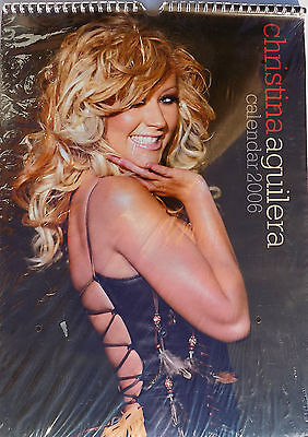 CHRISTINA AGUILERA Calendar 2006 UK 12 Great Images ONE Only NEW and SEALED