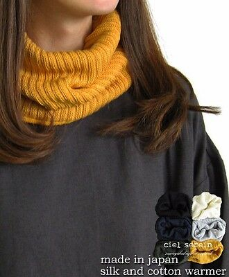 Natural Silk/Cotton Neck Warmer 6 colors Made in Japan