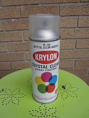 Vintage 60's KRYLON Clear Acrylic Spray Paint Rustolium #1301 Borden CLEAN!