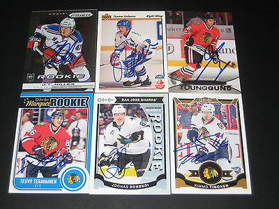 """TEUVO TERAVAINEN autographed '14/15 CHICAGO BLACKHAWKS """"O-Pee-Chee"""" rookie card"""