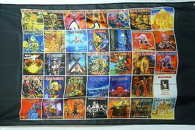 Iron Maiden Album covers LARGE 3x5 polyester poster banner