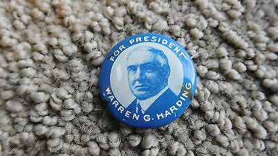 Rare Warren G. Harding For President Pin White Head & Hoag Co.