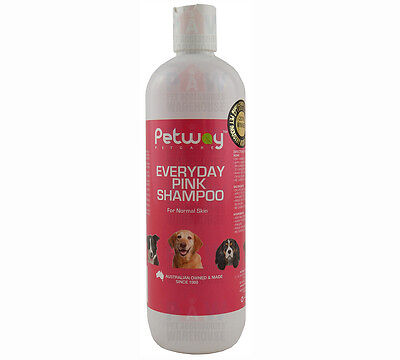 Petway Everyday Pink Shampoo 500ml Dog Cat Puppies Kittens Gentle Concentrate