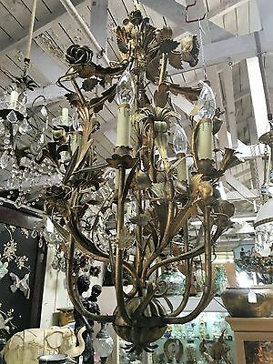 Antique French Metal Chandelier