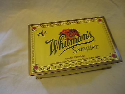 Whitman's Sampler Assorted Chocolates Yellow Candy Box Empty