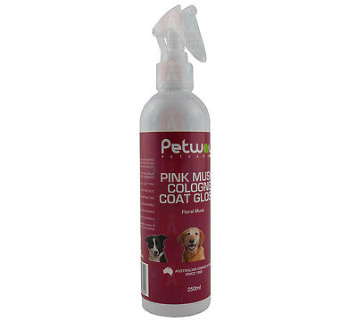 Petway Pink Musk Cologne Coat Gloss 250ml Dogs Cats Puppies Kittens Fragrance