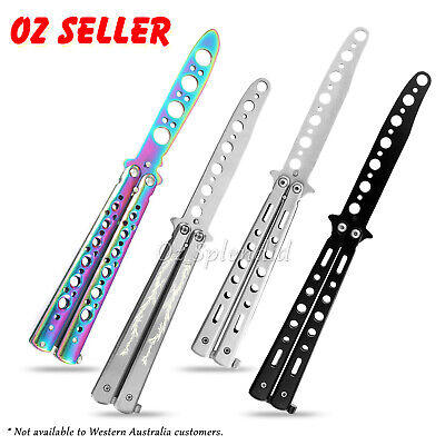 Rainbow Dragon Butterfly Knife Metal Folding Practice Trainer Training Tool OZ