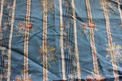 "Antique French 18thC Silk Brocade Fabric Textile~32""LX22""W~Dolls, Collectors"
