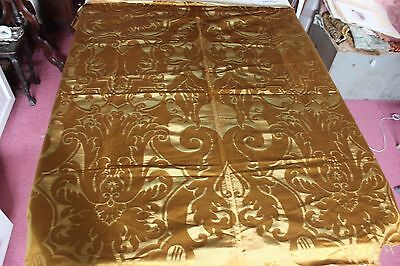 "Antique French 19thC Woven Silk Home Dec Frame Textile Fabric~1yd16""LX51""W"