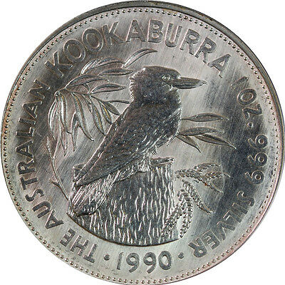 1990 The Australian Kookaburra 1oz Silver Coin