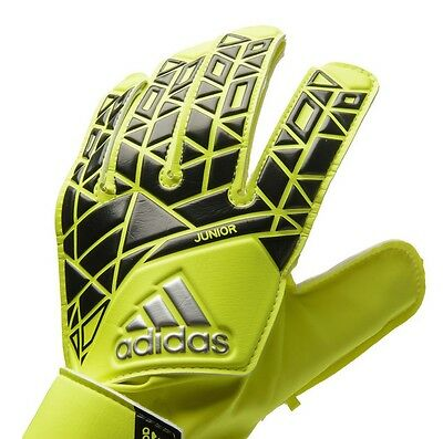 GOAL KEEPERS GLOVES adidas GK ACE JUNIOR SIZES KIDS/ YOUTH YELLOW/ BLACK