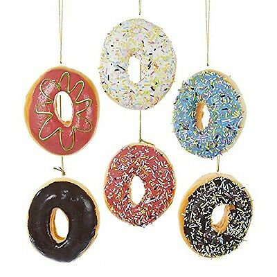 Donut Plastic Ornament Set of 6