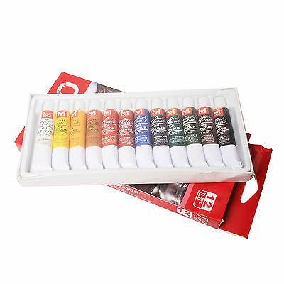 New 12 Color 12ml Paint Tube Draw Painting Oil Color Set