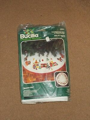 Bucilla Kit 48980. Jewelled Tree Skirt/Table Centre. Complete/Unused In Open Bag