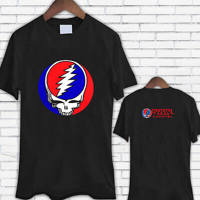 Grateful Dead Steal Your Face Logo Black Tee Shirt TShirt