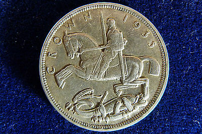 British King George V Silver 1935 Crown Coin