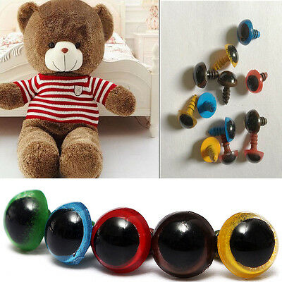 8mm Plastic Safety Eyes For Teddy Bear Doll Animal Puppet Craft 100pcs