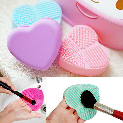 AU 100% Silicone Cleaning Glove Makeup Brush Washing Scrubber Tool Cleaners NEW