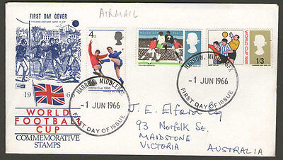 UK - 1966 - World Football Cup - FDC - Addressed