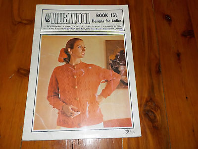 Villawool Knitting Patterns - Design For Ladies - 8 Ply - Book 151