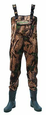 Allcock Camo 4.5mm Neoprene Chest Wader - All Sizes - Fishing Clothing