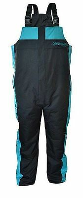 Drennan Quilted Breathable Salopettes Aqua/Black - All Sizes - Fishing Clothing