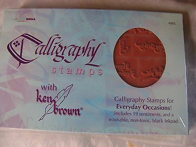 Calligraphy Stamps For Everyday Occasions. Card Making. Brand New & Sealed