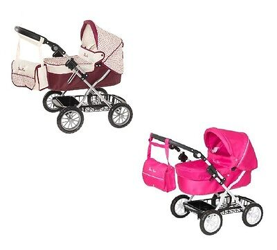 New Silver Cross Childrens Ranger Kids Dolls Pram Buggy Pink / Maroon Blush