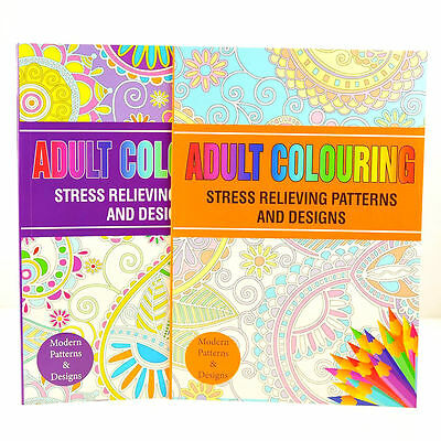 Colour Therapy Anti-Stress Adult Colouring Book – Relax