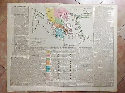 GREECE MACEDONIA ALBANIA 1805 by LESAGE LARGE COPPER ENGRAVED HISTORIC MAP