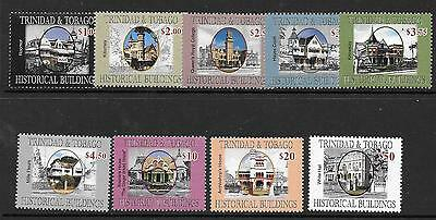 Trinidad & Tobago Sg1125/33 2007 Historic Buildings Mnh