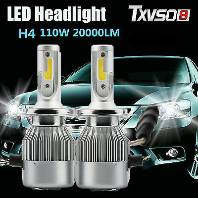 H4 110W 20000LM LED Phare Light Blanc 6000K Ampoule Voiture Feux Auto Lampe Neuf