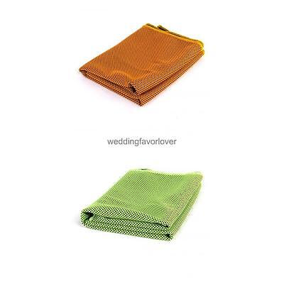 2Pcs Instant Cooling Gym Towel Jogging Sports Drying Sweat Towels Chilly Pad