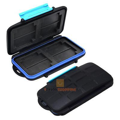 Waterproof Anti-shock Camera Memory Card Storage Case Holder Box for 8 SD Cards