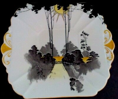 "Shelley Queen Anne ""Sunrise and Tall Trees"" Cake/Sandwich plate"