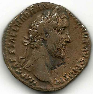 ROMAN IMPERIAL - ANTONINUS PIUS (138-161AD) AE Sestertius.Head right, Rev ANNONA
