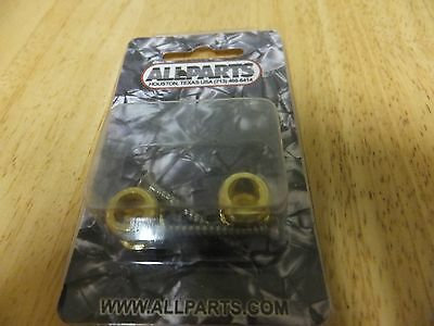 Allparts Buttons for Strap Lock System, with Screws (2), Gold G57
