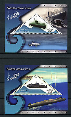 Madagascar 2015 MNH Submarines 3x 1v S/S Sous-Marins Boats Ships Stamps