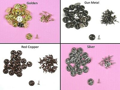 Metal Badge Button Lapel Replacement Backs for Badges Findings