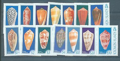 Solomon Is 2006 Definitives Cone Shells set of 14 sg.1202-15 MNH