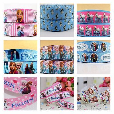 Grosgrain Ribbon - 7/8 & 1 Inch - 22 & 25 mm - Print by the Metre - Frozen