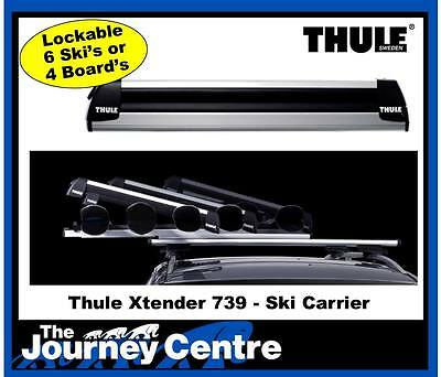 Thule 739 Xtender Carrier - Carries 6x Ski's or 4x Board's NEW latest Model