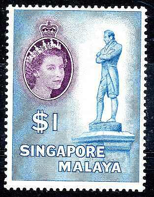 Singapore Qeii - 1955-59 $1 Dollar Lm/mint Cat £35.00  :