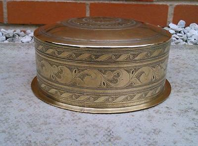 Quality 19th Century ANTIQUE ISLAMIC INDIAN ENGRAVED BRASS BASIN BOWL -Heavy-