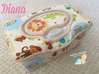 Zoo Jungle Animals Wipes Large Box Tub Dispenser. Wipes Case Container Box