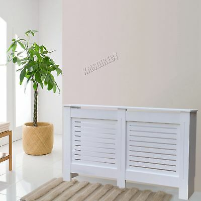 FoxHunter White Painted Radiator Cover Wall Cabinet Wood MDF Modern Home Medium