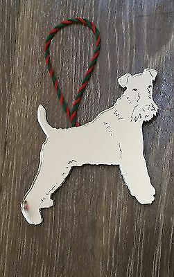 Fox Terrier Christmas Decoration Xmas Gift Wire Terrier Airedale Welsh Terrier