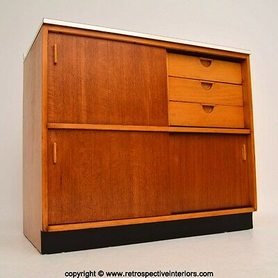 RETRO TEAK CABINET / SIDEBOARD BY FRANK GUILLE FOR KANDYA VINTAGE 1950's