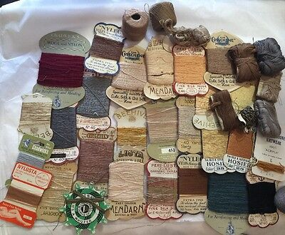 Collection Vintage Threads Darning Yarns Advertising Sewing Collectable